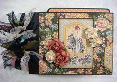 "TPHH Sharon Chipboard PREMADE Graphic 45 ""A Ladies Diary"" Photo Scrapbook Album"