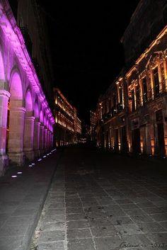 Avenida Hidalgo, centro histórico de Zacatecas #México