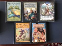 Five NC Wyeth Scribners Classics First Editions W/ Treasure Island
