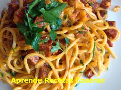Aprende Recetas Caseras: Espaguetis con Chorizo