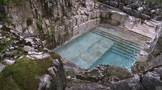 Reclaimed quarry swimming pool | Sheffield, MA