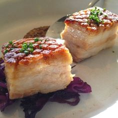 Pork Belly at Ad Hoc in Napa. This is a Thomas Keller restaurant down the street from his other famous spot, French Laundry.