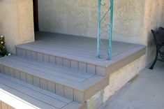 Composite Deck Over Concrete Patio Front Porch