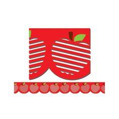 Stencil cut apples CTP1105