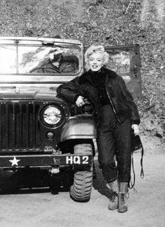 Marilyn Monroe in Korea, 1954.  From the Pinterest board of George Vreeland Hill.