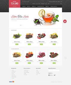Magento Theme #43373  #tea #product