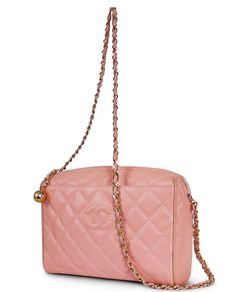 Chanel Pink Caviar Skin Cross Body Shoulder Bag With