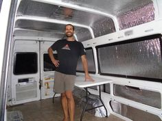 Living full time out of a Sprinter van, converted into a tiny home in about a week. Sprinter Van Conversion, Camper Van Conversion Diy, Motorhome, Van Insulation, Ducato Camper, Converted Vans, Vw Lt, Van Dwelling, Station Wagon