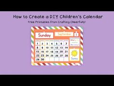 Create a DIY Children's Calendar with these free printables for days of the week, months, weather and daily activities. 2017 calendar pages available. Calendar Time, Diy Calendar, Calendar Pages, 2021 Calendar, Visual Schedule Preschool, Preschool Calendar, Daily Activities, Learning Games For Toddlers, Toddler Learning