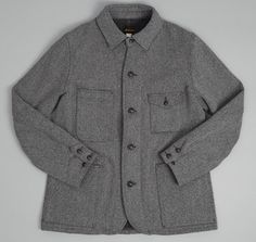 BIG YANK: Coverall Jacket, Grey