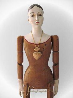 """Santos Cage Doll — 30"""" Santos Cage Doll, Gold"""