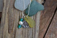 Beautiful Lime Green Genuine Irish Seglass Necklace by MajackalCreations on Etsy Sea Glass Jewelry, Glass Beads, Irish, Lime, Pottery, Pendant Necklace, Drop Earrings, Jewellery, Pearls