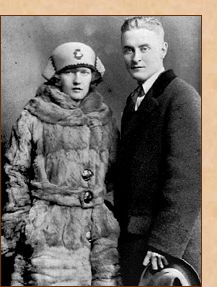 F. Scott Fitzgerald and his wife Zelda, the original flapper. Their booze soaked love affair ended in mental illness and tragedy.