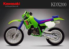 Kawasaki KDX200 I have owned a dozen of these, raced them all across the southeast. A very capable dirt bike with a good smooth engine. Short wheelbase could be whipped through the tight trails.