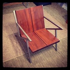 #selig #z #style #contemporary #chair #crafted by Matt Vaughn of the #revisiondivision | #salvage #inspired #design