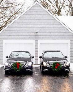 Hers & his.  Photo shot by @seangaleburke. _________________________________ #MercedesBenz #mbfanphoto #mbxmas #mbcar #w212 #s212 #EClass #E550 #automotivedesign #whileinbetween #Minnesotalife #holidayspirit