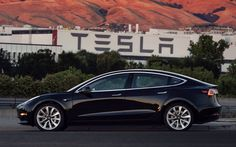 Tesla Model 3 first look. I reckon it looks awesome. ✔