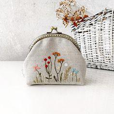 Embroidery Purse, Change Purse, Linen Fabric, Coin Purse, Purses, Wallet, Pretty, Cotton, Diy