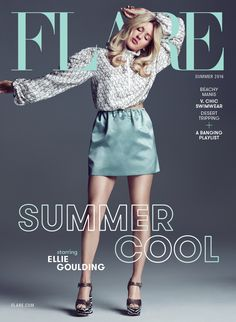 Magazine photos featuring Ellie Goulding on the cover. Ellie Goulding magazine cover photos, back issues and newstand editions. Ellie Goulding, Fishnet Top, Celebs, Celebrities, Summer 2016, Kim Kardashian, Plus Size Outfits, Editorial Fashion, Mini Skirts