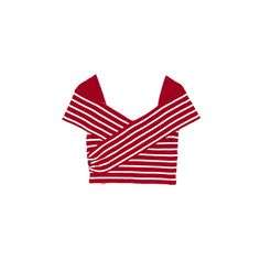 Wrapped Delight Top by Sretsis at Maximillia - Designer fashion... (255 CAD) ❤ liked on Polyvore featuring tops, t-shirts, sretsis, red t shirt, wrap style tops, red wrap top and wrap tee