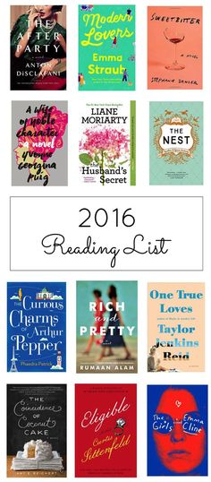 12 Must-Read Books for 2016: Summer Reading. These must-read books of 2016 will definitely make you want to get back to the books. (Get your wishlists ready!)  | glitterinc.com | @glitterinc
