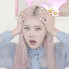 Kpop Girl Groups, Korean Girl Groups, Kpop Girls, Memes Do Blackpink, Indie, Blackpink Funny, Rose Icon, Rose Park, Black Pink Kpop