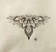 Mandala Tattoo Design, Half Mandala Tattoo, Mandala Hand Tattoos, Tattoo Designs, Lotus Mandala, Sternum Tattoo, Flower Tattoos, Body Art Tattoos, Tattoo Drawings