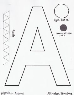 this blog has a template for all the abcs abc crafts alphabet