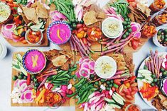 Bright Beet-Feta Dip With Market Crudite From Nourish Kitchen & Table | Free People Blog ... doesn't this look delicious?!