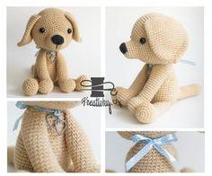 český návod na háčkovaného psa Crochet For Kids, Crochet Toys, Knit Crochet, Easy Knitting, Knitting Patterns, Diy And Crafts, Projects To Try, Teddy Bear, Dolls