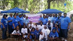 Sorors of Alpha Theta Zeta Chapter, Savannah Zeta Amicae and  youth auxiliary represented at the 2015 March for Babies at Daffin Park in Savannah, GA.