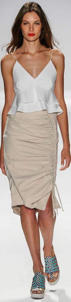 Nanette Lepore Spring 2014 Ready-To-Wear Chic Dress, Dress Skirt, Chic Outfits, Fashion Outfits, Fashion Trends, Moda Fashion, Womens Fashion, Dress Patterns, Casual Chic