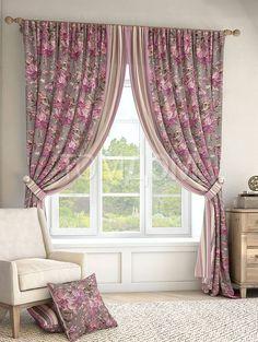 """Комплект штор """"Гарви (серый)"""": купить комплект штор в интернет-магазине ТОМДОМ #томдом #curtains #шторы #interior #дизайнинтерьера"""