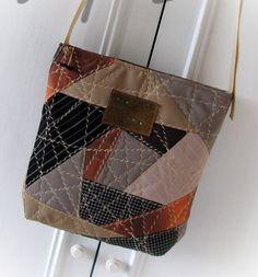 patchwork bag textile bag patchworkmessenger bag by klaptykart
