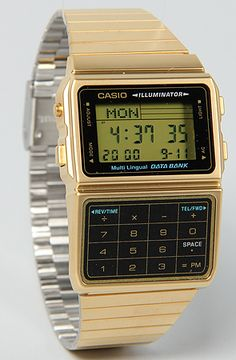 Casio Databank watch:  use it to calculate how awesome you are.  #plndr