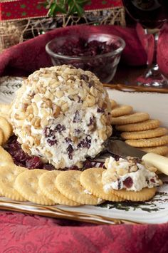 Made with only four ingredients, this Cranberry Walnut Cheese Ball recipe is a delicious appetizer to start off any meal or holiday party.  Your Christmas guests will love this classic cheese ball!