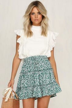 outfit for promo night of sorority recruitment outfits New Arrivals Cute Summer Outfits, Cute Casual Outfits, Spring Outfits, Casual Summer, Cute Skirts, Mini Skirts, Summer Skirts, Summer Dresses, Skirt Fashion