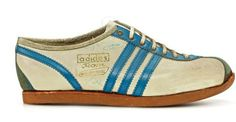 The iconic Rom (together with its sister shoe the Italia) was introduced for the Rome Olympics and were the standard adidas training shoes for the 1960 Rome games, handed out to athletes in the Olympic village. It could be used for all purpose training and leisure but was also suited to indoor sports. The original was made of white elk leather with blue stripes and with a porocrepe sole. The shoe would be one of the brands most popular for decades, going through several updates of the sole…