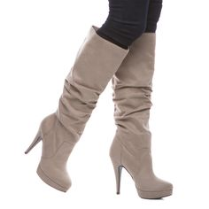 Izabel plush/slouch boot