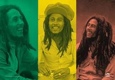 Bob Marley Rasta Collage Fabric Poster