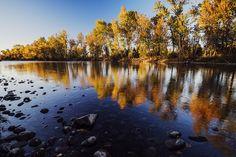 Autumn Evening Along Boise River Photograph