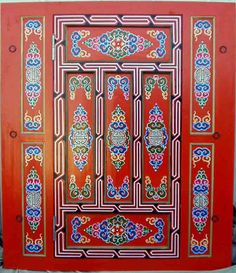 Mongolian Yurt door