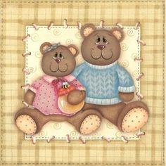 Papel decoupage casal urso PROMOÇÃO