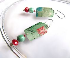 Asian Inspired Earrings from Recycled Soda Cans by GeminiDragonfly, $20.00