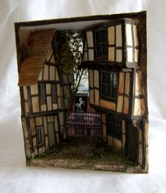 Penny Thomson Miniature Houses, Miniture Things, Tudor, Building A House, Workshop, Miniatures, Cabin, House Styles, Dollhouses