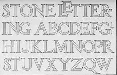 ALPHABET OF MODERN CAPITAL LETTERS ITALIAN RENAISSANCE CHARACTER Suitable For Cutting At A Small Size I E 1 8 Inches High In Stone