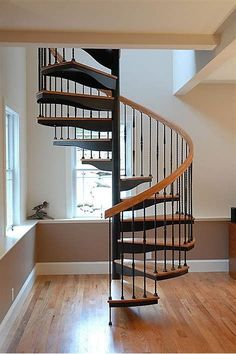 60 Best Spiral Staircase Ideas, The Complete Knowhow - Enjoy Your Time Spiral Staircase Kits, Winding Staircase, House Staircase, Staircase Design, Staircase Ideas, Spiral Staircases, Traditional Staircase, Staircase Makeover, Stairways