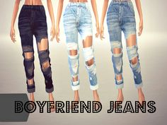 TSR : Sims4sisters' BOYFRIEND JEANS - mesh needed.