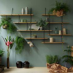 Link Shelf Duo – Oak Wood/Black Brackets Link Shelf Duo - Oak Wood/Black Brackets by Studio Hausen - Fy Interior Design Living Room, Living Room Designs, Living Room Decor, Bedroom Decor, Wall Decor, Wall Art, Room Inspiration, Diy Home Decor, Diy Decoration