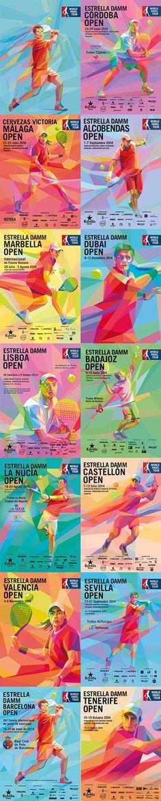 Estrella Damm World Padel Tour on Digital Art Served